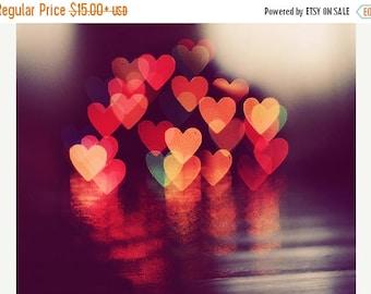 Love Art: Love lights Fine Art Photography, valentines day light heart bokeh lovers couple art print Still life Photography Heart Print