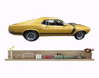 Car Wall Decal, 1970 Ford Mustang, Ford Boss 302, Classic Car Decor, Muscle car decal, Man Cave Decor, Fathers Day Gift, Boys Room Decor
