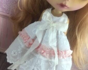 Blythe Ribbon Lace Dress - Pale Pink
