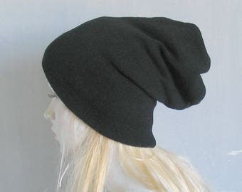 SET of THREE HATS Dreadlock accessories Mens dreadlock tube hat Womens Hat plain hair wrap, dread band tube hat Slouchy Hat Slouch