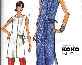 Vouge Very Easy 7249 KOKO BEALL Designer Dress, Tunic And Pants Sewing Pattern UNCUT Plus Size 14, 16, 18
