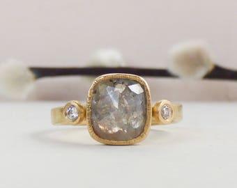 Ethical Engagement Ring - Rose Cut Diamond Ring - Solitaire Diamond Ring - Engagement Ring - Unique Engagement Ring - Conflict Free Diamond