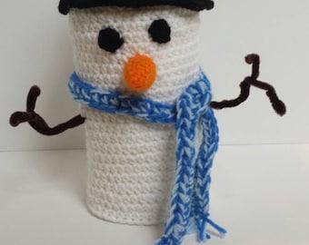 Snowman, toilet paper, cover, tp, roll, cozy