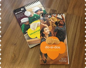 Girl Scout Cookies Notebook, Savannah Smiles, Do-Si-Dos, Recycled Spiral Bound Notebooks, Cookies, Jotter