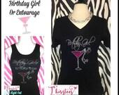Sparkling birthday girls entourage Tshirt birthday girls entourage tank top sparkling birthday shirt ladies entourage t shirt birthday trip