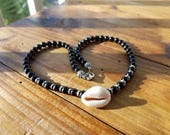 Boho glam black onyx bead...