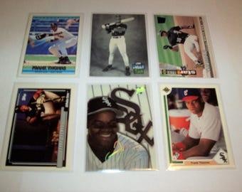 Vintage Lot of 6 Frank Thomas Baseball Cards