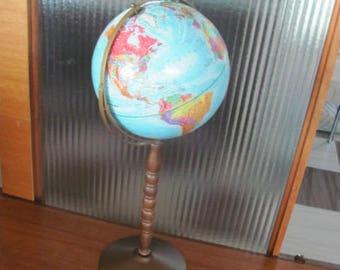 "Vintage 12"" Replogle World Globe - Floor Standing Model with Gyro-Matic Action - Replogle Globe - World Geography - Education - Office Globe"