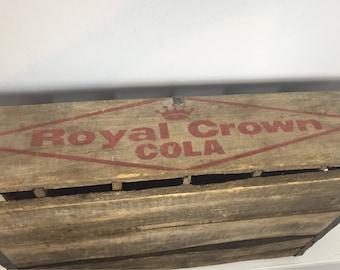 Vintage Royal Crown RC Cola Crate Storage Box
