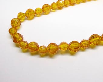Glistening Honey Glass Necklace