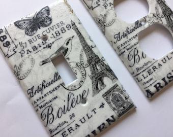 Paris Decor, Paris Light Switchplate Cover, Paris Bedroom Decor, Paris  Nursery, French