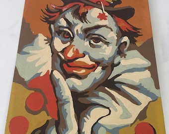 Paint By Number Clown, PBn Clown