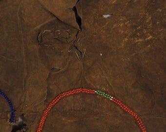 Maasai Leather Cape Olekesana Beadwork Kenya African Art 112353
