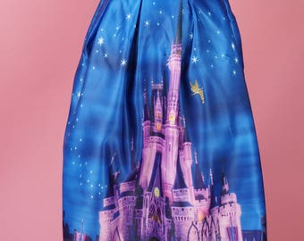 Cinderella's Castle Inspired Swing Skirt featuring Tinkerbell