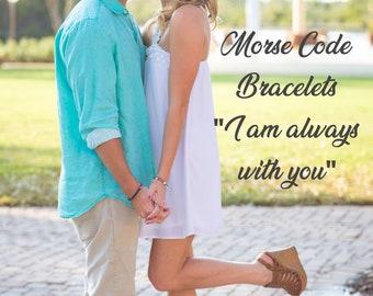 Distance Bracelets, Long Distance Relationship Bracelet, Matching Couples Jewelry, Distance Jewelry, Long Distance Relationship Gift