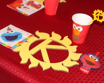 You Are My Sunshine/Sesame Street/ Sunny Day Initial Laser Cut Place Mat