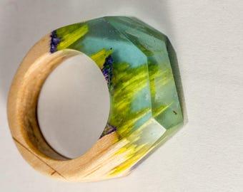 Resin wood ring 011
