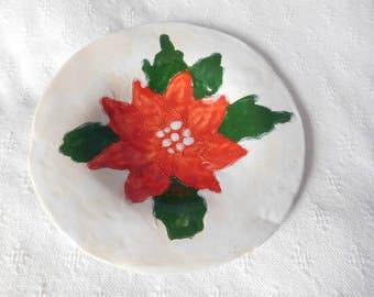 Poinsettia Decorative Dish