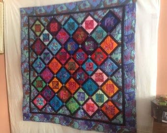 All  squared up multicolored quilt