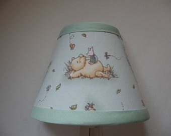 Classic Winnie the Pooh Fabric Nursery Nightlight/Light Green /Baby Gift