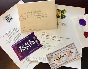 Deluxe Personalized Acceptance Letter, Harry Potter Letter, School of Witchcraft and Wizardry