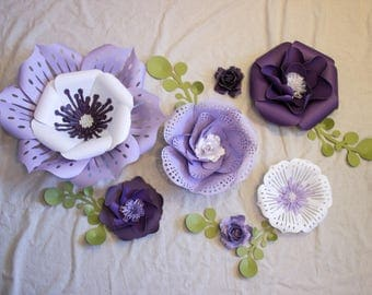 Blossoms in Lavendar Paper Flowers- Pick up only
