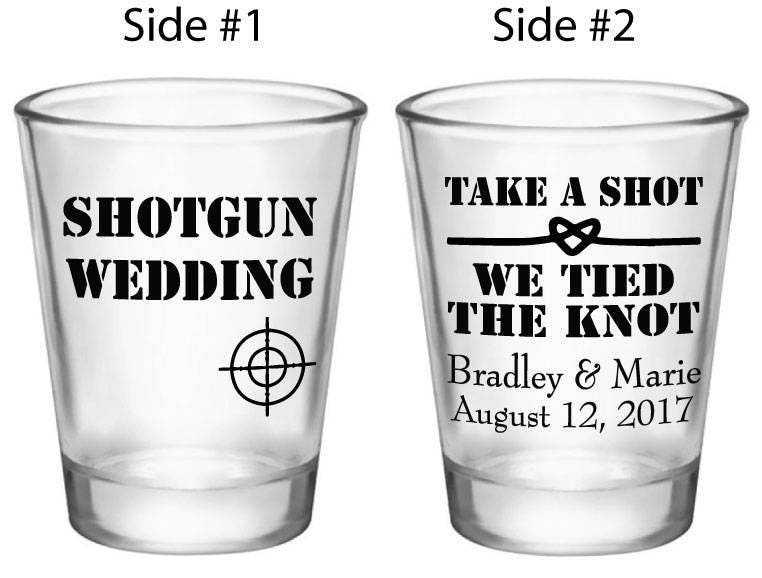 customized wedding favors shotgun wedding shot glasses custom