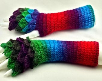 40% OFF Fingerless gloves - Arm warmers  -Fingerless Mittens - Hand warmers-Dragon Gloves
