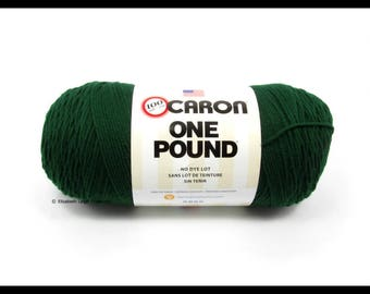 SALE 25% off Caron One Pound, Forest Green, 16 oz