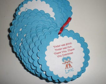 Thing 1 & Thing 2 Favor Tags - Set of 25
