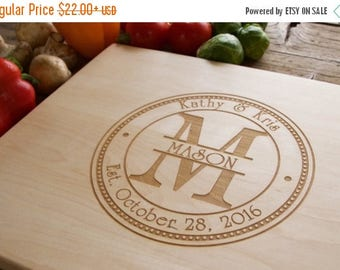 ON SALE Personalized Cutting Board Engraved Cutting Board, Personalized Wedding Gift, Wedding Gift, Housewarming Gift, Anniversary Gift