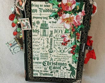 A Christmas Carol Handcrafted Hardcover Junk Journal
