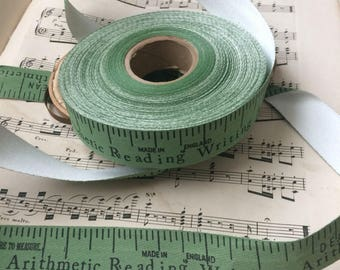 For The Lovers Of Teaching & Measuring Spool Of English Tape Ribbon