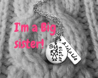 """I""""m a Big sister Sterling Silver necklace"""