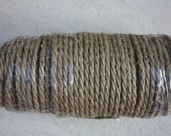 6 mm Jute Cord Natural = 131 Yards = 120 Meters - Wilde treasure - Jute Cord - Jute Macrame