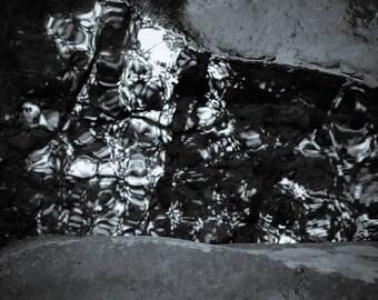 channel, 8x10 fine art black & white photograph, nature
