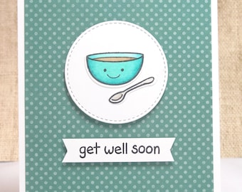 Get Well Soon Card- Get Well Card- Cute Get Well Card- Feel Better Card