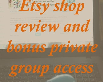 Etsy shop critique with bonus private group access for ongoing support, how to get more traffic to your Etsy shop.