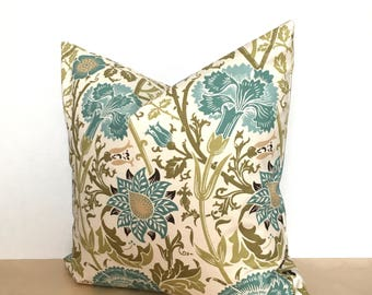 BLUE teal turquoise pillow cover - 16x16 and 18x18 - decorative pillow covers