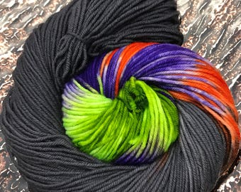 Trevor Morgan DK, Hand dyed yarn, DK Weight, Superwash Merino,  Haute Knit Yarn, Yarn, 8 ply, Hand dyed, Bat Country