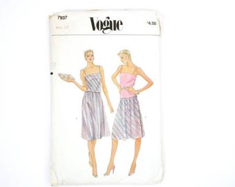 40% OFF CHRISTMAS in JULY Vintage retro sewing pattern // skirt patterns // Boho retro 60's // 70's dress // skirt // vogue pattern