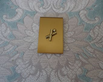 Brass Bowling Theme Money Clip, Vintage New Old Stock, Money Holder, Men's Accessory