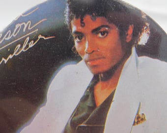 Vintage 1980's Michael Jackson Triller Pin Pinback Button Badge DR56