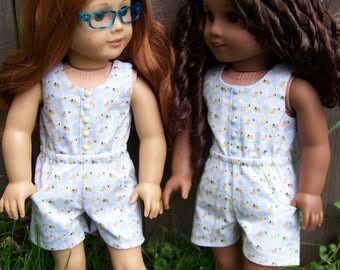 Buzzy Bee Romper for 18 inch American Girl Dolls