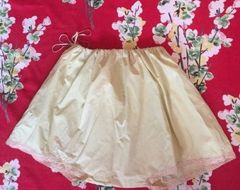 ON SALE Vintage 1920s yellow french knickers 20s cotton bloomers L Xl