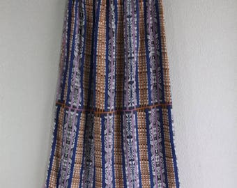 SALE long hippie maxi skirt with multiple tribal patterns- fits small, medium