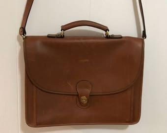 Perfect genuine leather vintage unisex laptop messenger bag