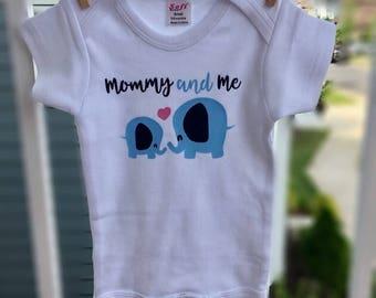 Mommy and Me Elephant Bodysuit