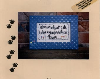 Angel Stitchin: A Home Without Cats/Dogs (OOP) - Cross Stitch Pattern