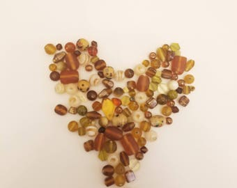 Assorted Irregular Glass Beads for Jewelry or Embellishing Glass, Wood, and Metal